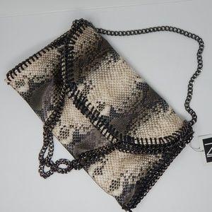 Python Chain Border Shoulder bag faux python NWT